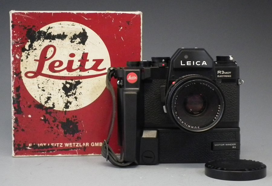 Leica R3 SLR camera serial number 1508505 fitted with