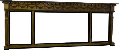 Neo classical gilt overmantel mirror 19th century of