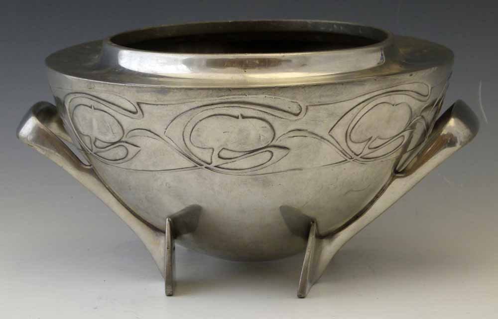 English Pewter bowl designed by Archibald Knox, for