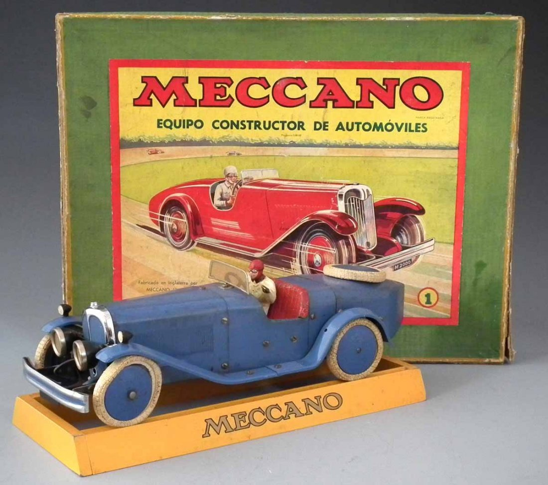 Meccano Car Constructor set 1   the clockwork car with