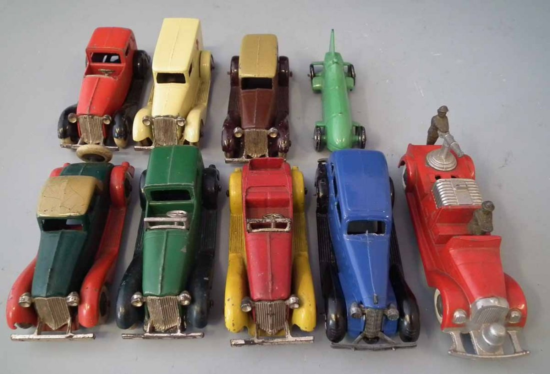Nine early Tootsie Toy die cast toy vehicles.  (9) - 3