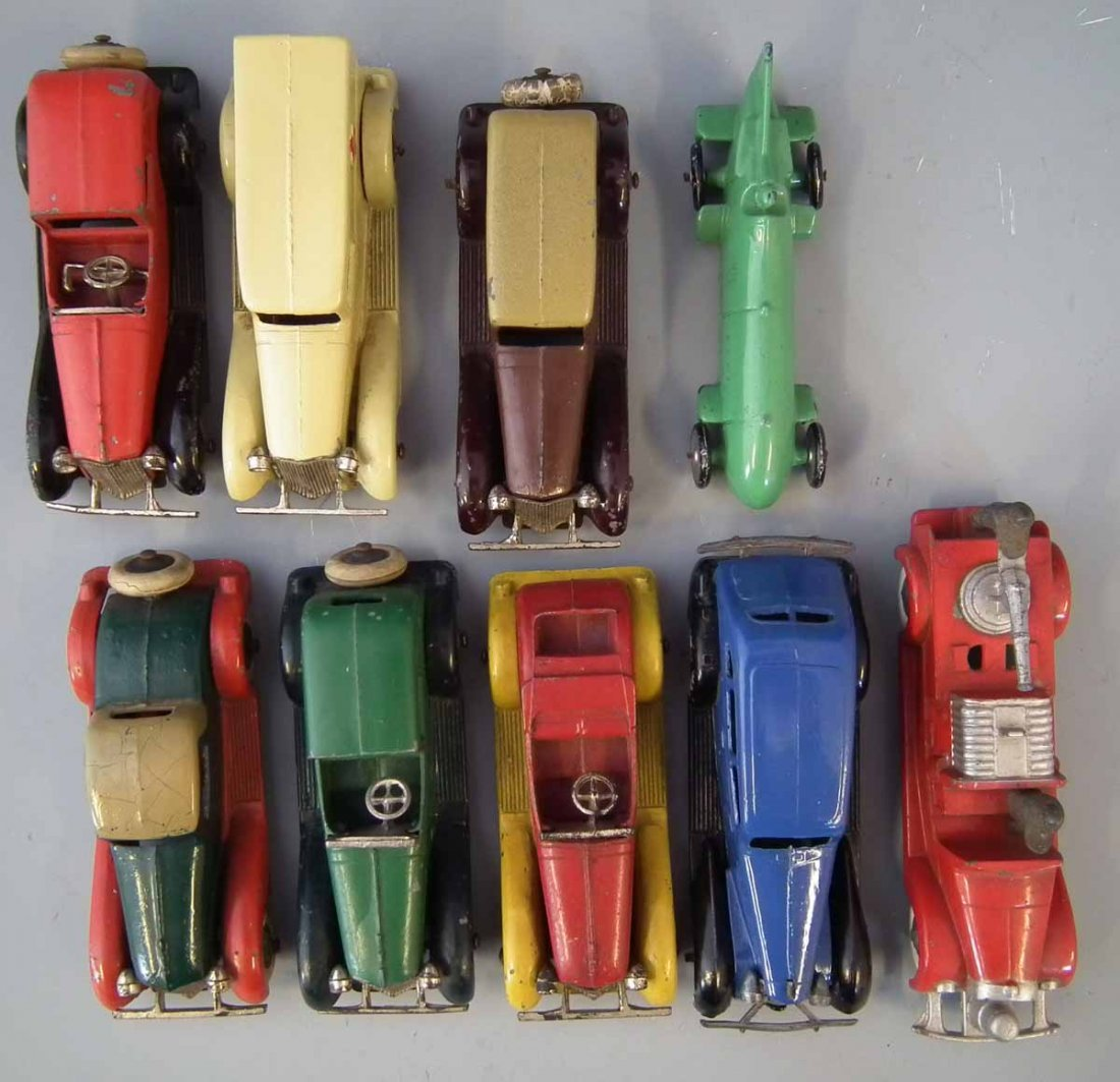 Nine early Tootsie Toy die cast toy vehicles.  (9) - 4