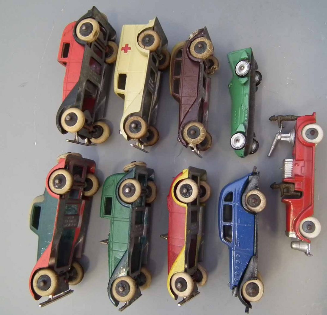 Nine early Tootsie Toy die cast toy vehicles.  (9) - 5