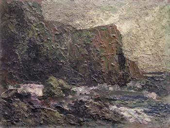 6: Lyn Reynolds - coastal scene, oil