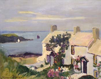 11: Joseph Andrews - Cottages, Cemaes Bay, oil