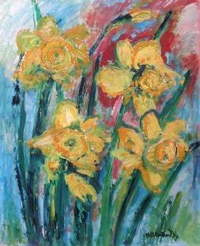 15: J. L. Isherwood - daffodils, oil