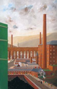 16: Norman Ruscoe - 'Mill Town', oil