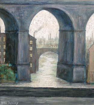 17: Arthur Delaney - Stockport Viaduct, oil