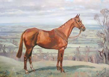 19: Major G.A. Cattley - hunters (pair), oil