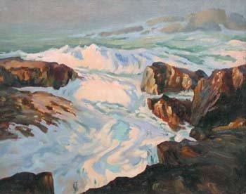 20: Follower of Roderic O'Conor - coastal scene, oil