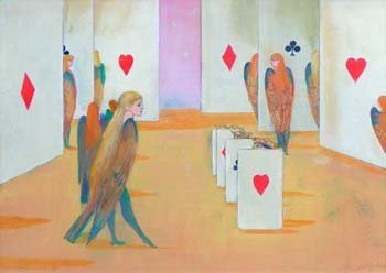 22: George Jardine, playing cards, oil