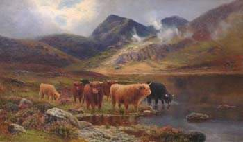 109: Attributed to Daniel Sherrin - Highland landscape,