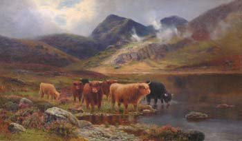 109: Attributed to Daniel Sherrin - Highland landscape,