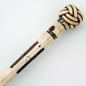 484: 19th century whale bone walking stick