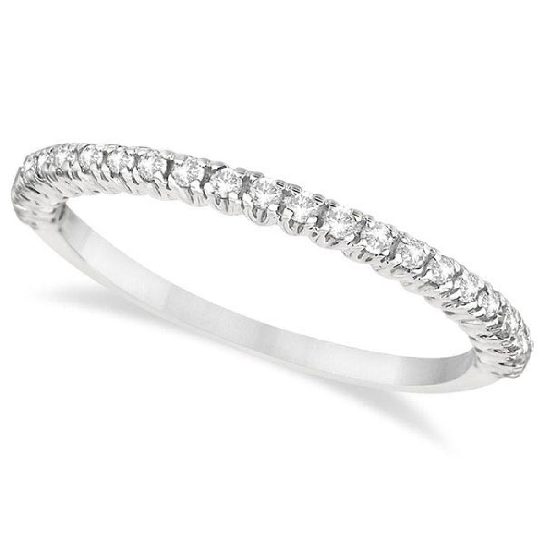 Half-Eternity Pave-Set Diamond Stacking Ring 14k White