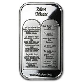 1 oz Silver Bar - Ten Commandments (German)