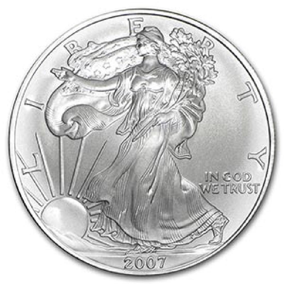 2007 1 oz Silver American Eagle BU