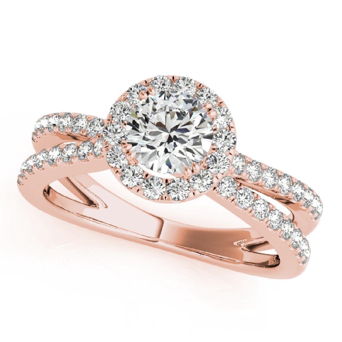 CERTIFIED 18K ROSE GOLD 1.15 CT G-H/VS-SI1 DIAMOND HALO