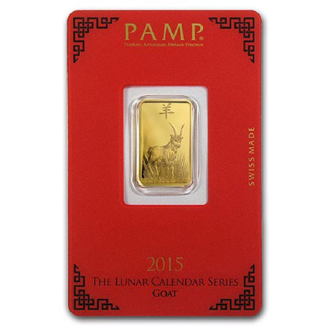 5 gram Gold Bar - PAMP Suisse Year of the Goat (In Assa