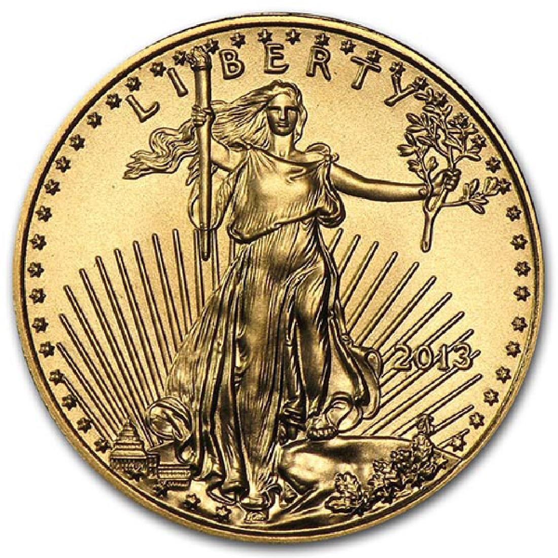 2013 1/10 oz Gold American Eagle BU