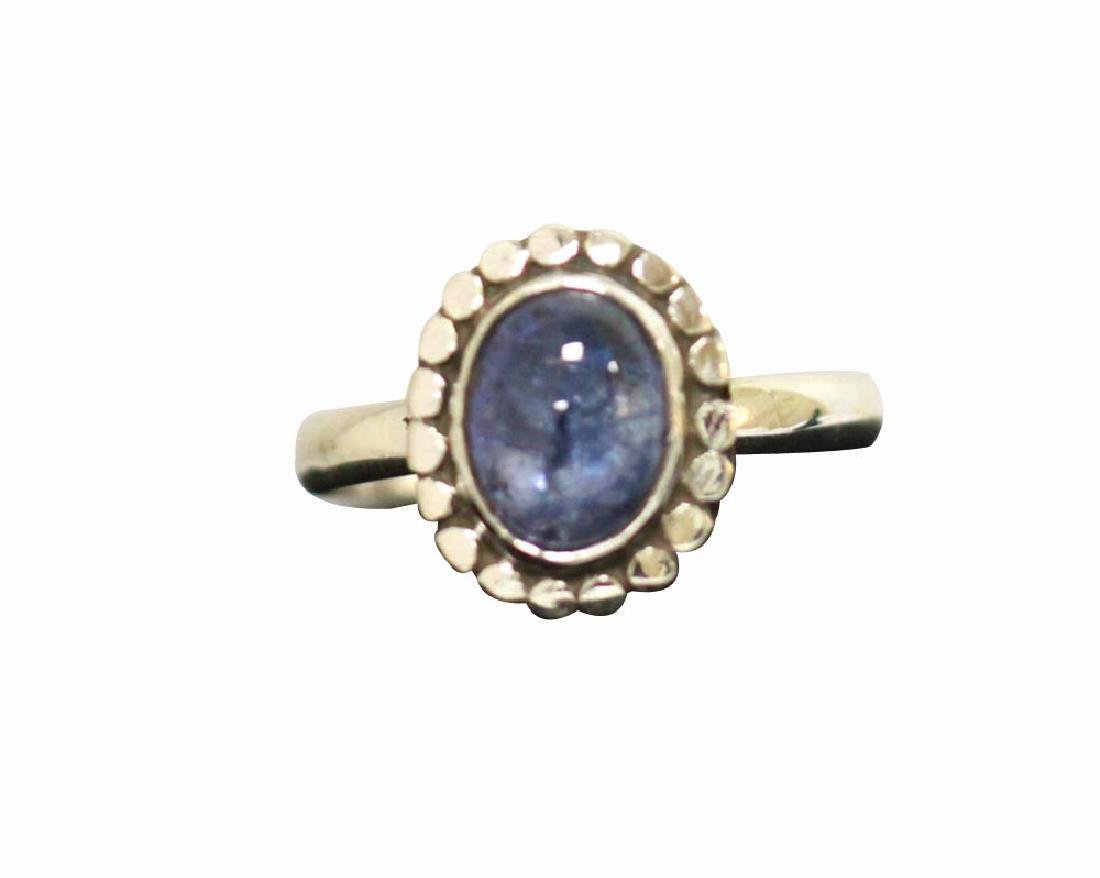 OVAL TANZANITE .925 STERLING SILVER RING 2.75 CTW