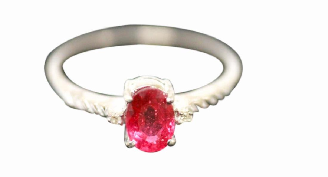 .925 STERLING SILVER 0.93 CTW RUBY AND DIAMOND RING
