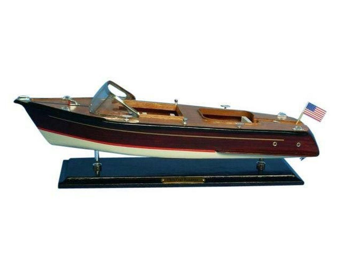 Wooden Chris Craft Runabout Model Speedboat 20in.