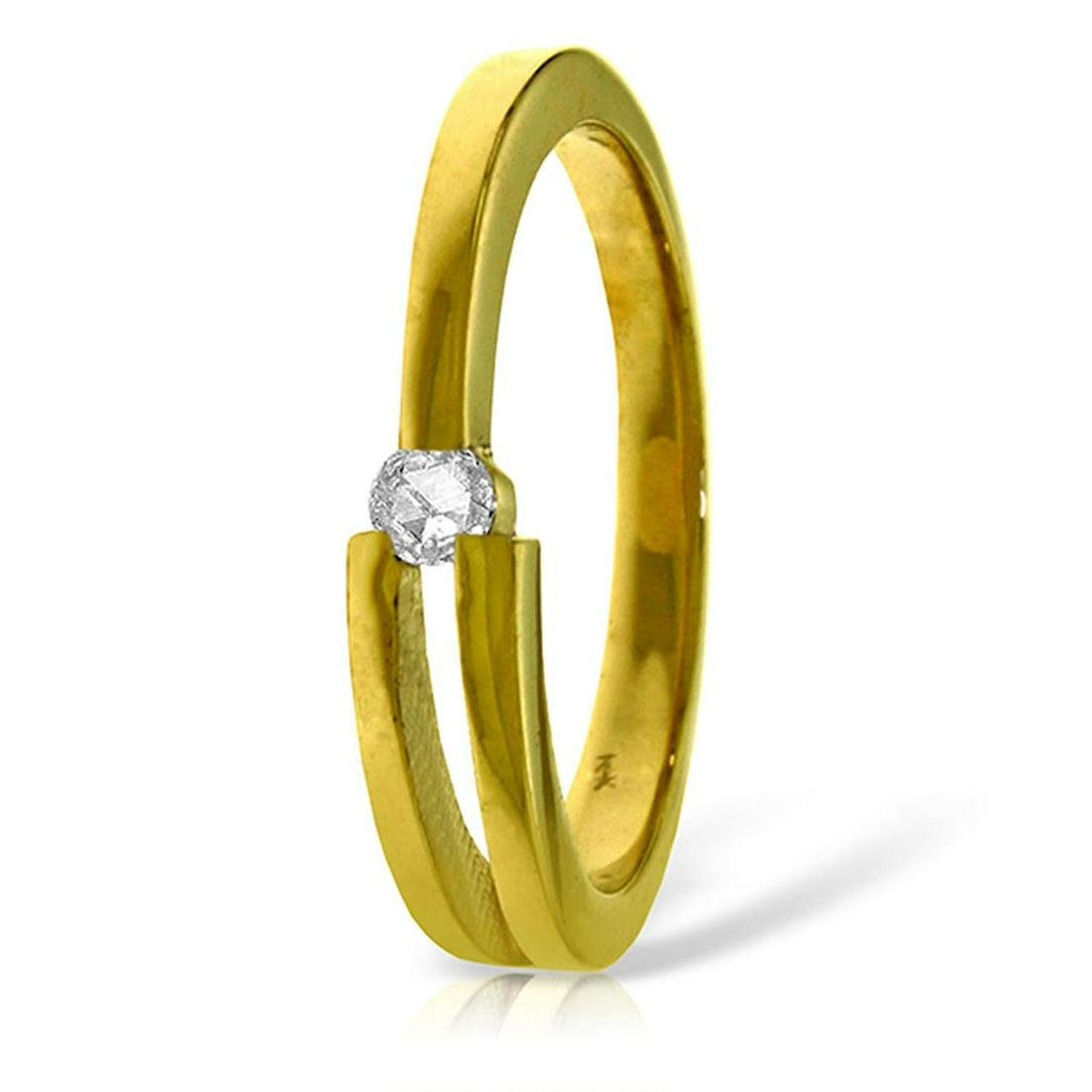 0.1 CTW 14K Solid Gold Running In Meadows Diamond Ring