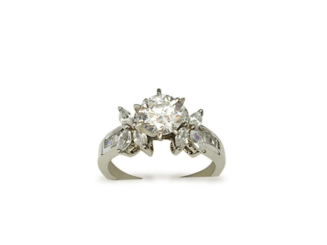 1.30 CTW DIAMOND RING IN 14K WHITE GOLD G-H/SI1-SI2 CEN