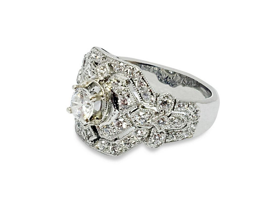 1.27 CTW DIAMOND RING IN 14K WHITE GOLD G-H/SI1-SI2 CEN