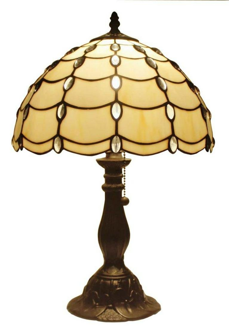 LIGHTING TIFFANY STYLE CASCADE TABLE LAMP 19 IN