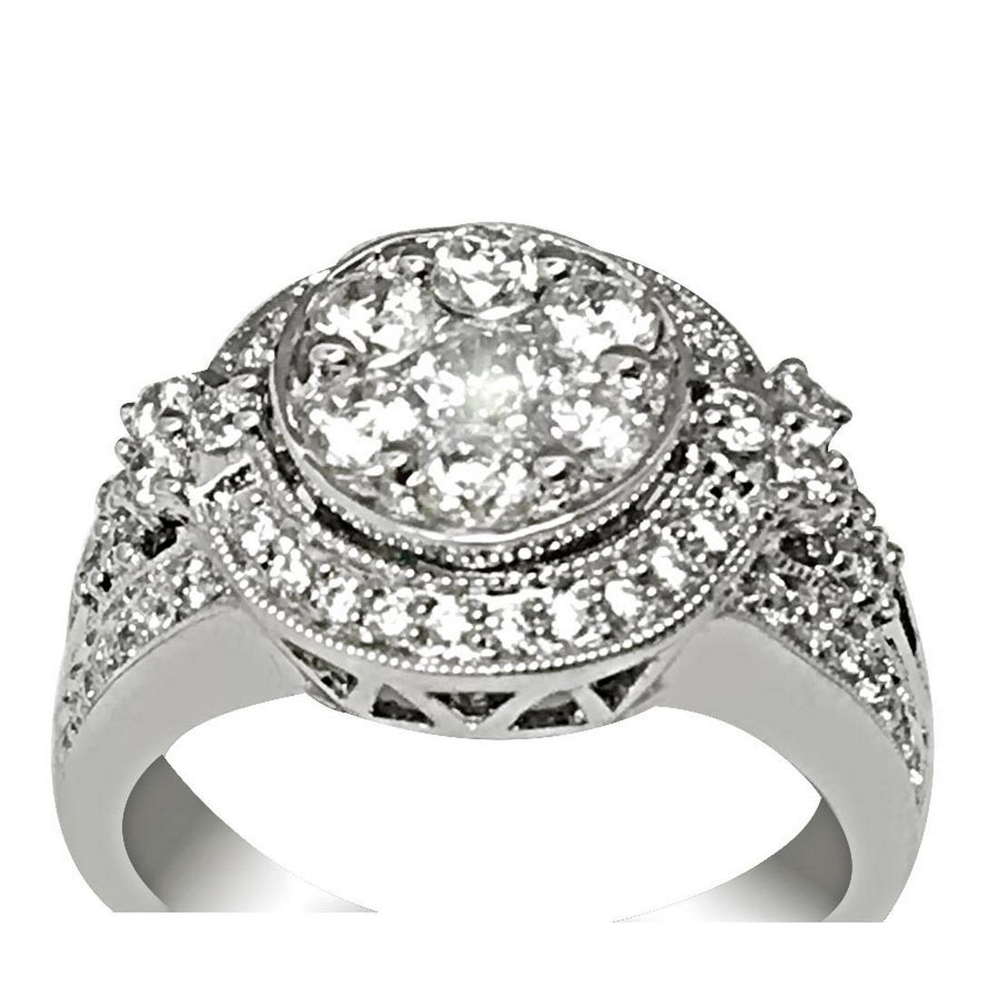 1.30 CTW DIAMOND RING IN 14K WHITE GOLD G-H/SI1-SI2