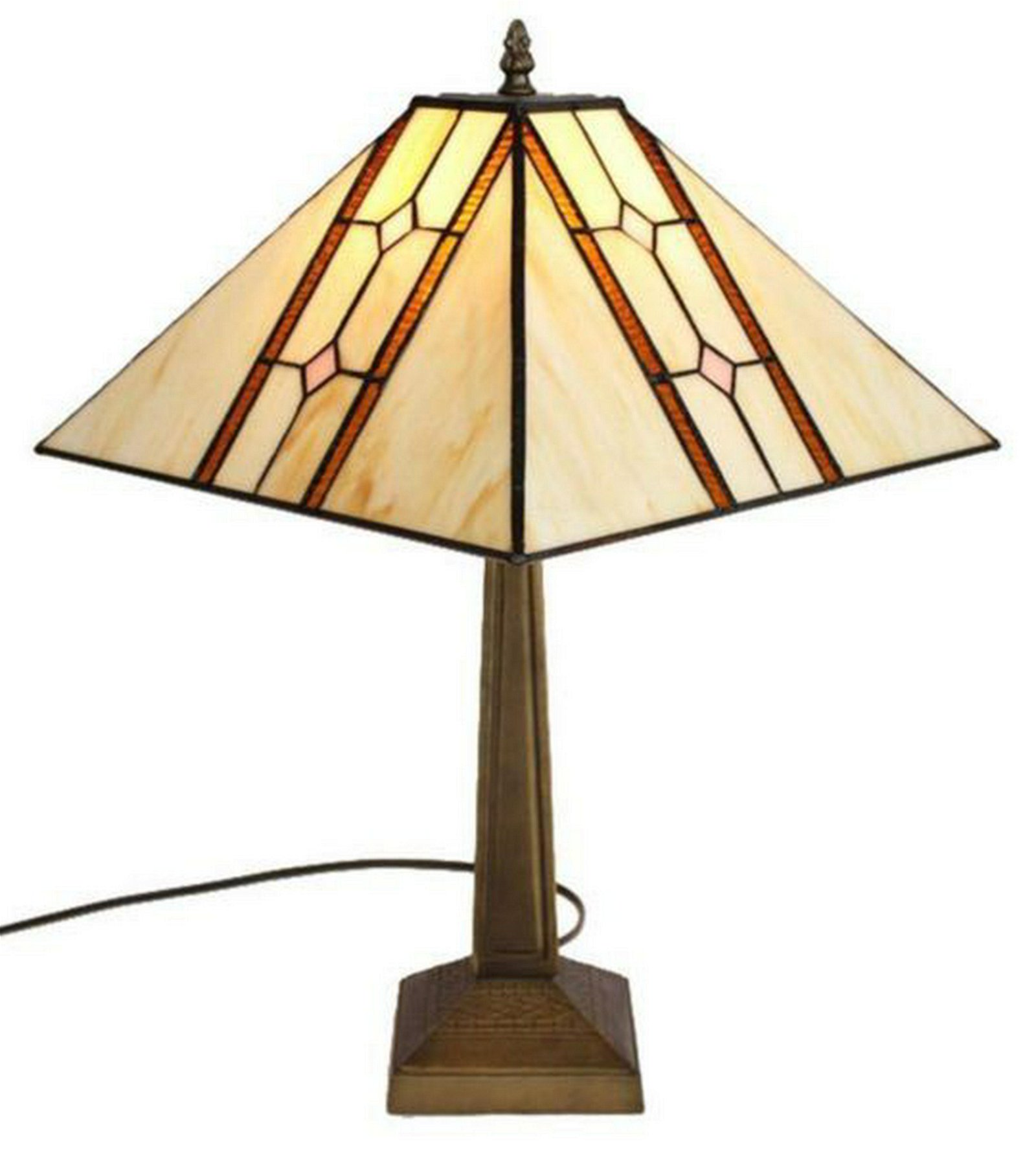 LIGHTING TIFFANY STYLE MISSION TABLE LAMP