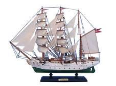 Wooden Danmark Tall Model Ship 20in