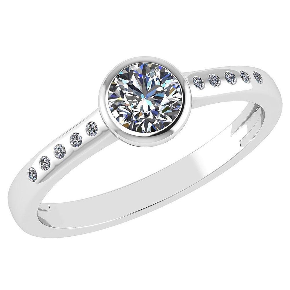 Certified 0.50 Ctw Diamond 14k White Gold Halo Ring