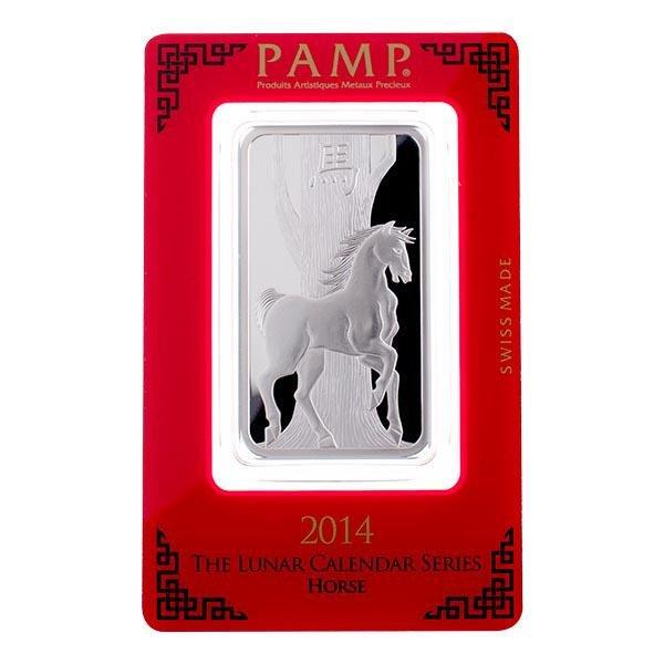 PAMP Suisse Silver Bar 1 oz - 2014 Horse Design
