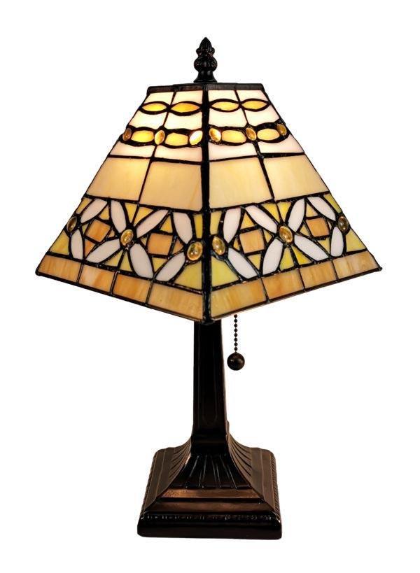 LIGHTING TIFFANY STYLE MISSION JEWELED TABLE LAMP 8 INC
