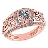 Certified 184 Ctw Diamond WeddingEngagement 14K Rose