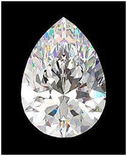 GIA CERT 0.9 CTW PEAR DIAMOND F/VVS1