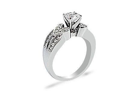 .90 CTW DIAMOND RING IN 14K WHITE GOLD G-H/SI1-SI2 CENT