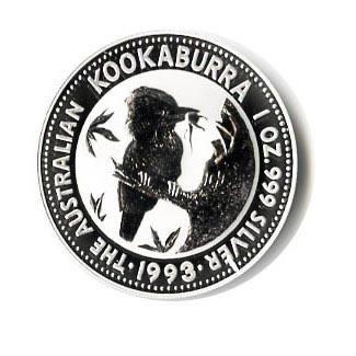 Australian Kookaburra 1 oz. Silver 1993
