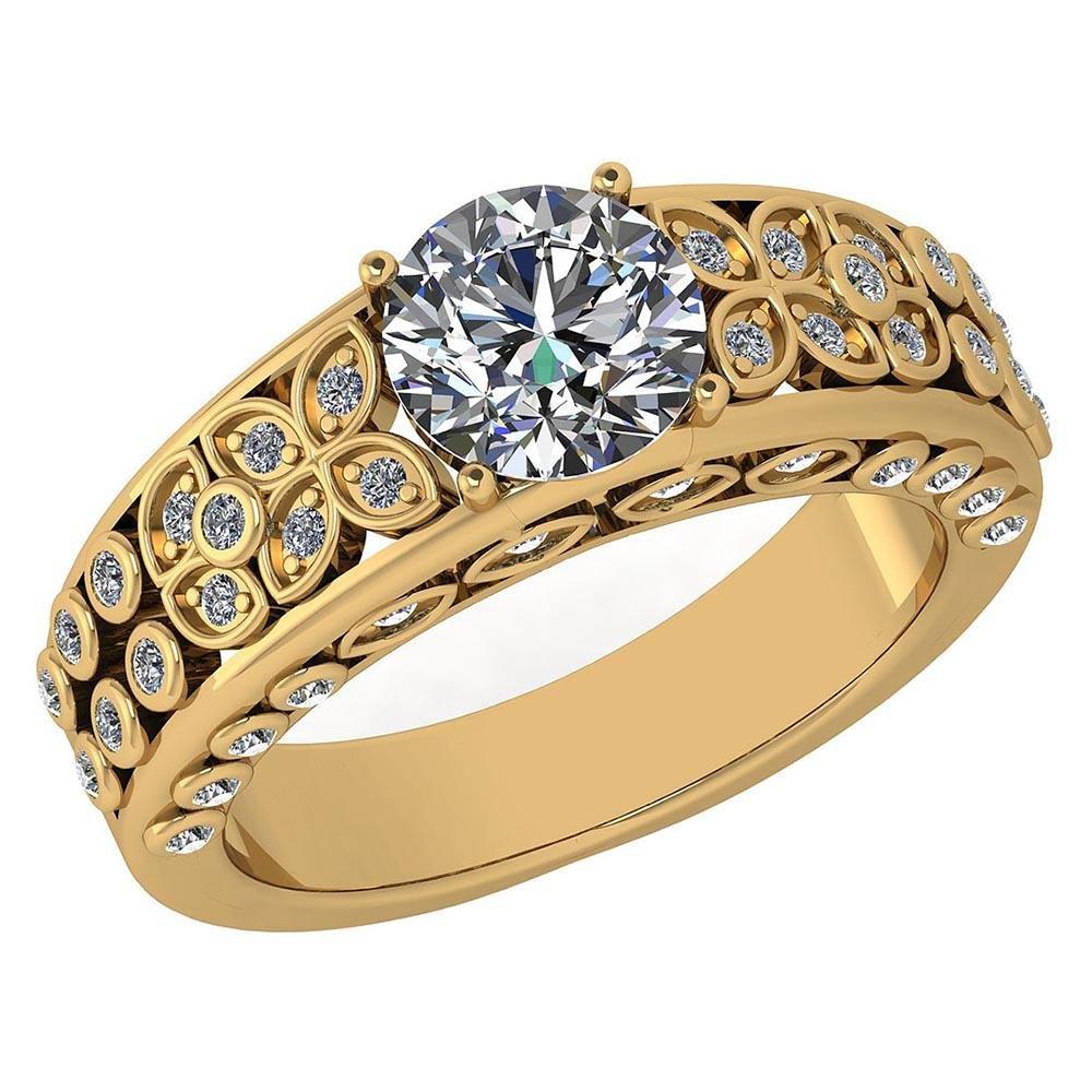Certified 1.65 Ctw Diamond Engagement /Wedding 14K Yell