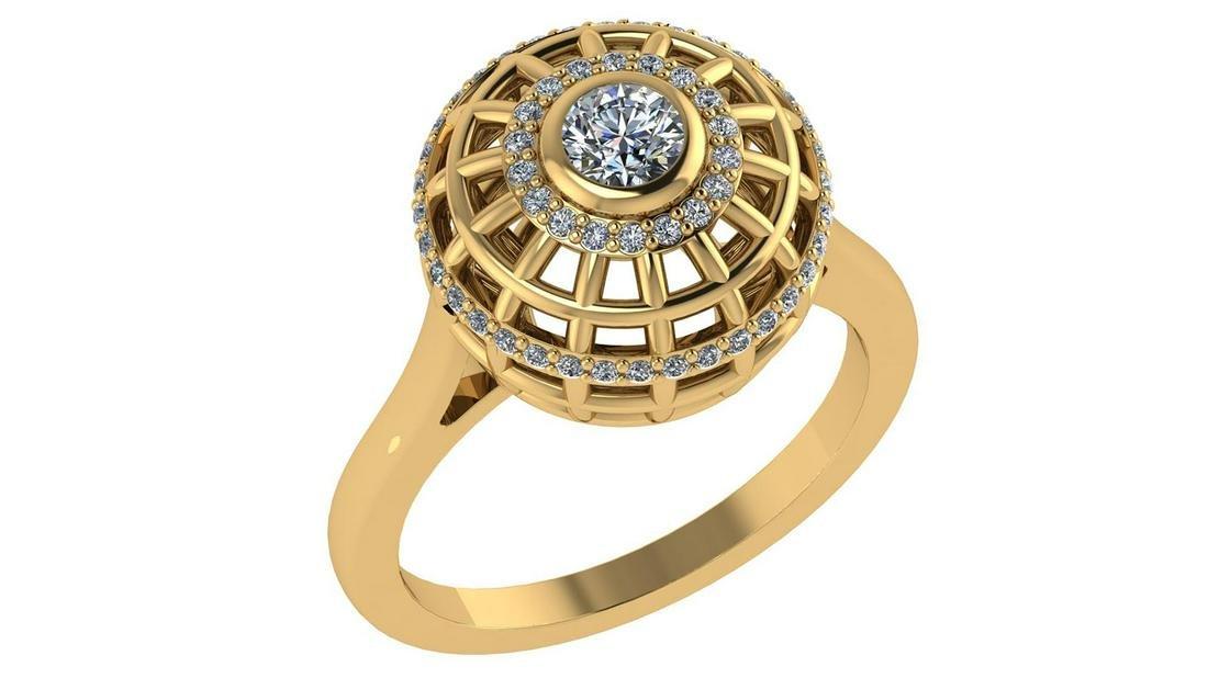 Certified 0.75 Ctw Diamond Engagement /Wedding 14K Yell