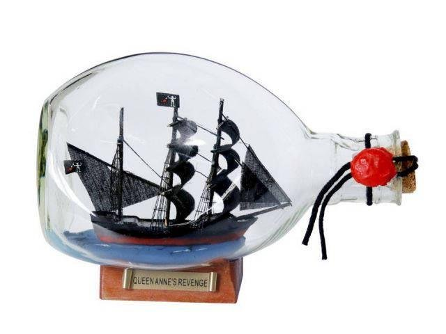 Wooden Blackbeards Queen Annes Revenge Pirate Ship in a