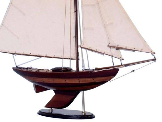 Wooden Old Ironsides Sloop Decoration 40in.