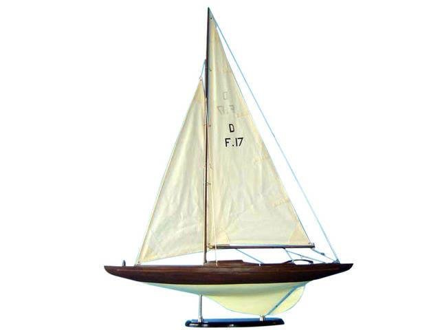 Wooden Dragon Keelboat Decoration 40in.