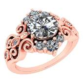Certified 165 Ctw Diamond WeddingEngagement 14K Rose