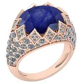 Certified 781 Ctw Blue Sapphire And Diamond VSSI1 Eng