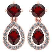 Certified 219 CTW Garnet And Diamond 14k Rose Gold Hal