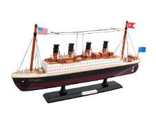 Wooden RMS Titanic Model Cruise Ship 14in